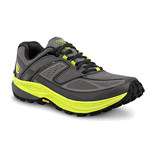 TOPO Athletic Men's Athletic Ultraventure Trail Running Shoes, Grey/Green, 8 (M028-GRYGRE)