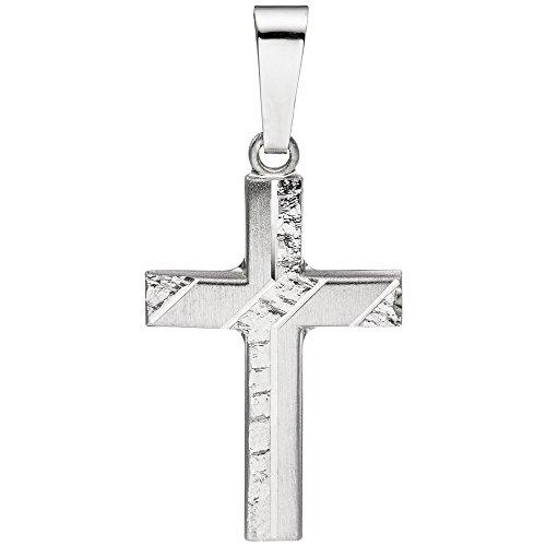 Croce pendente JOBO 925 argento opaco avalaya Croce Ciondolo Croce d'argento