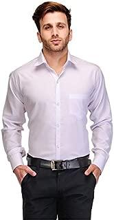 FOCIL Men's Cotton Casual Shirt (White, 36)