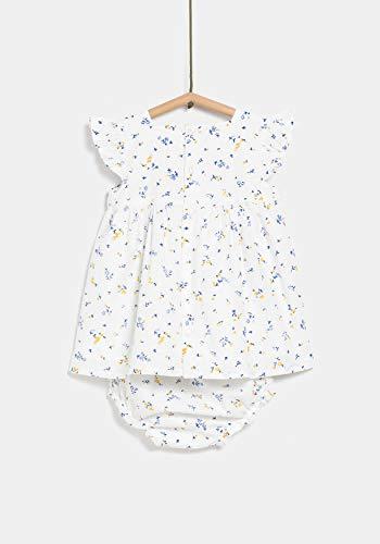 TEX - Vestido Estampado con Braguita para Bebé Niña, Blanco Neutro, 12 Meses