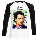 Photo de teesquare1st Men's Gustav Mahler Composer T-Shirt Noir à Manches Longues Size XXXLarge