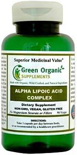 Green Organic Supplements' Alpha Lipoic Acid Complex, ALA, 90 VCaps Alpha Lipoic Acid Capsules