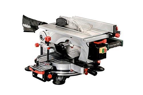 Metabo KGT 305 M Kapp- und Tischkreissäge I Kapp Funktion, 1600 W, Sägeblatt Ø 305 mm, Schnittbreite 150 mm, Wiederanlaufschutz, Sägekopf nach links neigbar, LED-Arbeitslicht, Laser 619004000