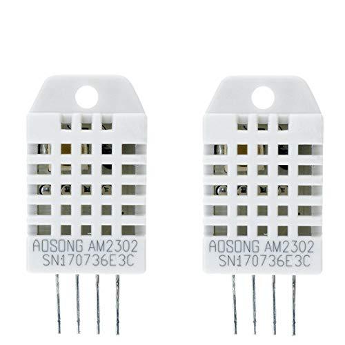 Amazon.es - 2pcs DHT22/AM2302 Digital Temperature and Humidity Sensor