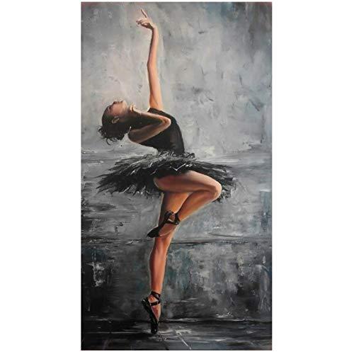HGLLL Immagine di Arte della Parete Ballerino di Danza Classica Pittura su Tela Poster Immagini Moderne di Stampa HD Soggiorno Decorazioni per la casa (40x80 cm) Senza Cornice
