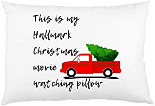 FavorPlus Pillowcase This is My Hallmark Christmas Movie Watching Pillow Decor Queen Size Pillow Cases Cover Design Bedroom Sofa Pillow Sham 20X30 Inches