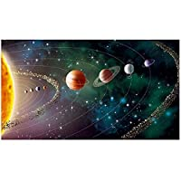 Mmpcpdd Solar System Planet Landscape Canvas Painting On The Wall Posters Prints Wall Pictures For Living Room Home Wall Cuadros Decor-50X90Cmx1 No Frame