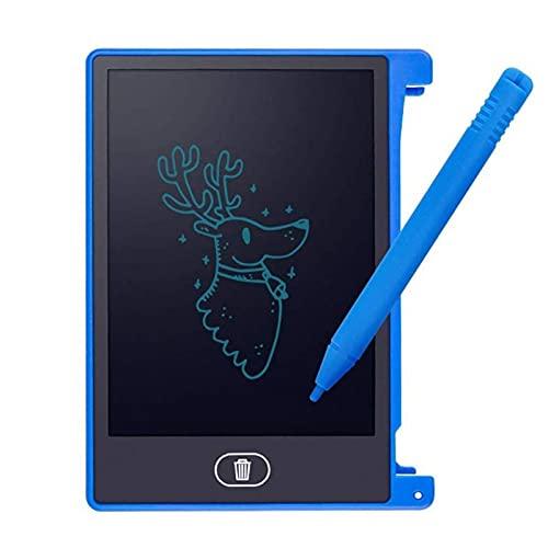 JSJJAOL Tablero de Dibujo 4.4 Pulgadas LCD Digital Inglés LCD Tableta Portátil Mini Dibujo Infantil Graffiti Board Mensaje Tablero de Escritura (Color : Blue)