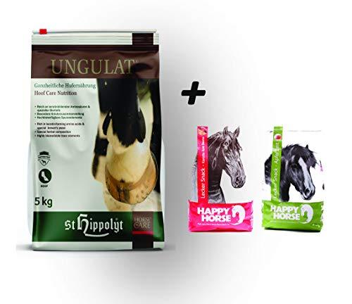 St. Hippolyt Ungulat 5 kg und wir schenken Ihrem Pferd 2 x 1 kg Happy Horse Lecker Snacks