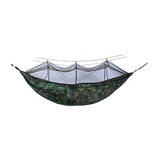 Hamaca portátil Anti-Mosquitos para Acampar al Aire Libre, Disponible para Adultos y niños, en una Variedad de Colores, se Puede Elegir a voluntad, fácil de Instalar