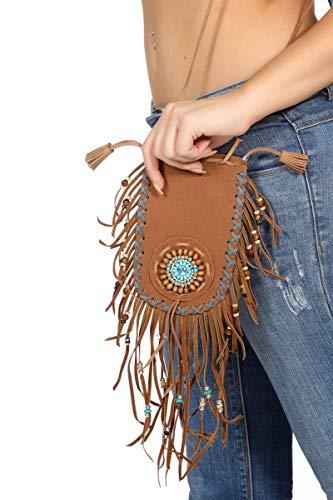 Wilbers Kostüm Zubehör Tasche Handtasche Indianerin Hippie Karneval Fasching