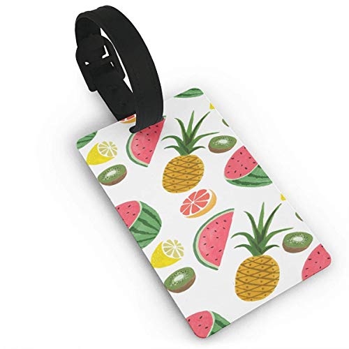 Pineapple Kiwi Luggage Tag Travel Accessories Business Card Holder