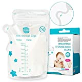 GLAND Breastmilk Storage Bags Easy Pour Spout 100 Count, Pre-Sterilized BPA Free Ready to Use Double...