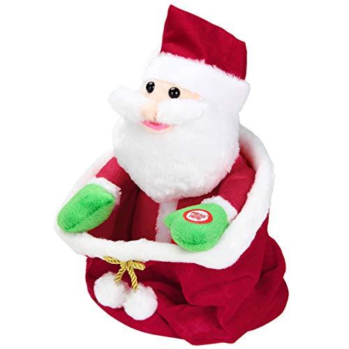 Monzana Weihnachtsmann Singender Nikolaus Tanzendender Santa Claus 25cm Weihnachten Deko Batteriebetrieben