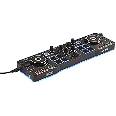 Hercules DJControl Starlight – Portable USB DJ Controller - 2 tracks with 8 pads and sound card - Serato DJ Lite included