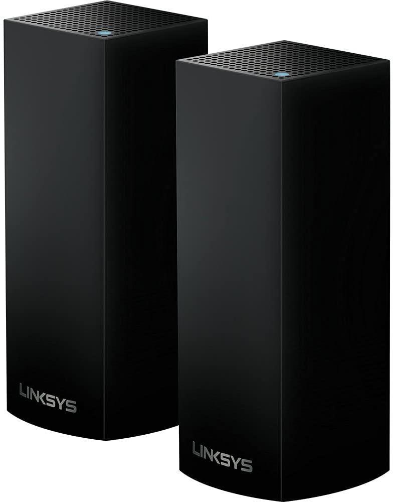 Linksys Velop Intelligent Mesh WiFi System, Tri-Band, 2-Pack Black (AC2200)