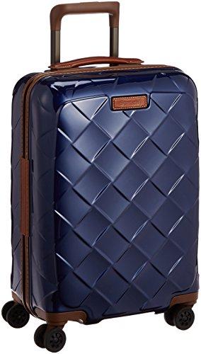 [ストラティック] スーツケース ジッパー レザー&モア 機内持ち込み グッドデザイン賞 保証付 35L 55 cm 2.61kg ネイビーブルー