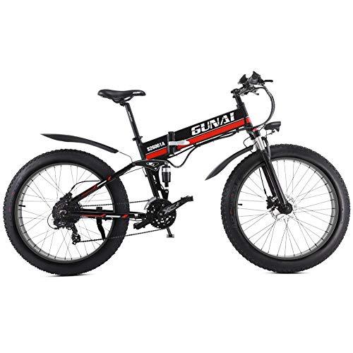 Xiaoyue Elektro-Schnee-Fahrrad 48V 1000W 26-Zoll-Fat Tire Ebike mit abnehmbaren Lithium-Batterie und Federgabeln mit Rear Seat lalay