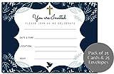 25 Religious Invitations   Boys & Girls Navy...
