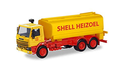 herpa 310956 Scania Tank-LKW Shell Fahrzeug in Miniatur zum Basteln, Sammeln und als Geschenk, Mehrfarbig