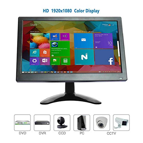 Best Deals! WHOLEV HDMI Monitor 12 inch CCTV Monitor 1920x1080 Security Monitor HD Portable Monitor ...