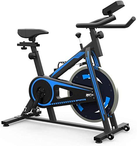 CLI Bicicleta estática Bicicleta de Ejercicios de Interior Ajustable Bicicleta Profesional Equipo de Entrenamiento de Ejercicio cómodo cojín del Asiento cojín Gimnasio casa Azul