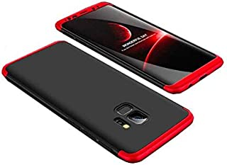 Samsung Galaxy S9 Plus GKK Case 360 Degree 3 in 1 Full Body Protection Hard PC Cover Case For Samsung Galaxy S9 Plus - Red & Black