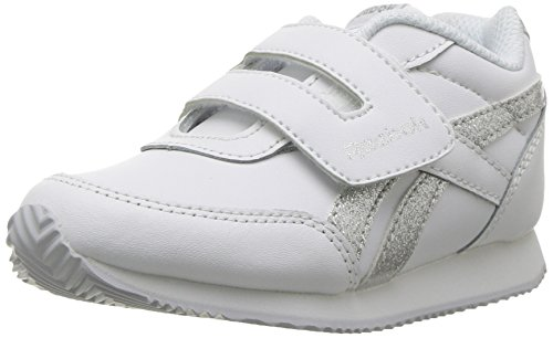 Reebok- - Reebok Royal Cl Jogger 2 Kc mixte enfant Fille , Blanc (White/Silver Sparkle), 17 EU