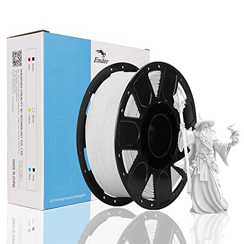 Creality PLA Filament 1.75mm, Filamento para Ender Impresora 3D, 1kg Spool(2.2lbs) Blanco