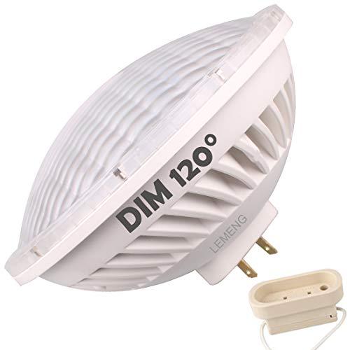Par56 LED-Leuchtmittel, dimmbar, 28 W, Warmweiß (2700-3000 K), WFL 120° Abstrahlwinkel, GX16D Sockel, ersetzt Par-56 300 W Halogenlampe Yellow Warm Whtie 3000k