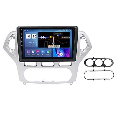 Para Ford Mondeo 2006-2014 Android 10.0 In-Dash Car Stereo Radio Reproductor Multimedia, Pantalla Táctil 9 Pulgadas Con Bluetooth Carplay FM AM DSP GPS SWC Cámara Trasera,06 to 2010,300S 8Core 3+32G