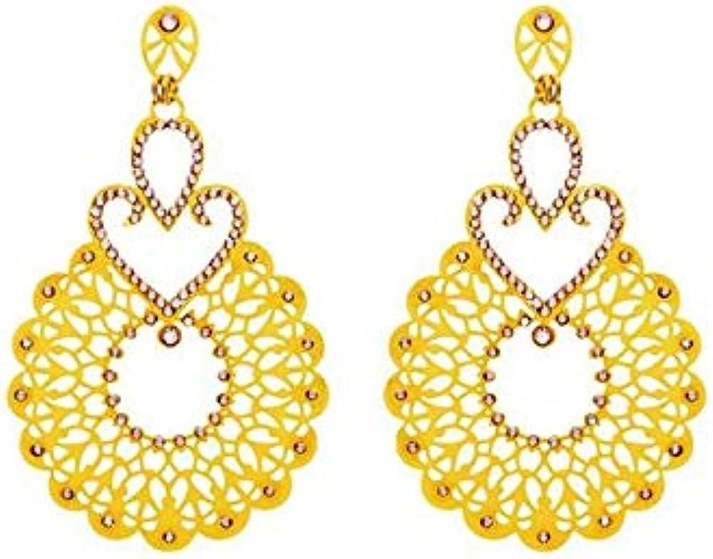 Stroili orecchini pendenti in ottone dorato 1513150