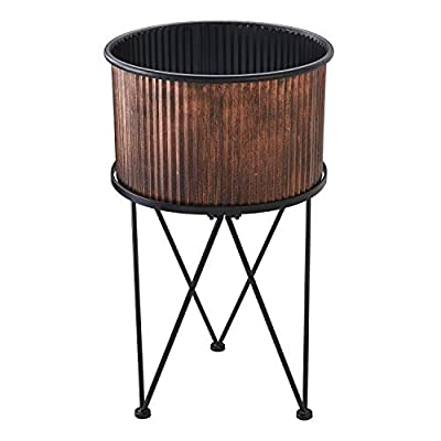 """Mainstays Karvel Galvanized Copper Planter with Stand, 28"""""""