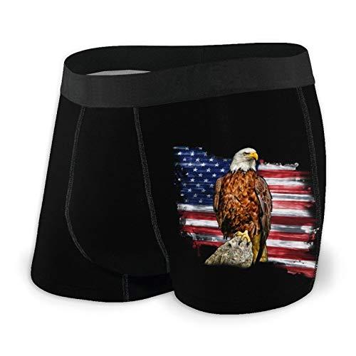 Nuwcense - Calzoncillos para hombre, diseño de bandera americana, color blanco
