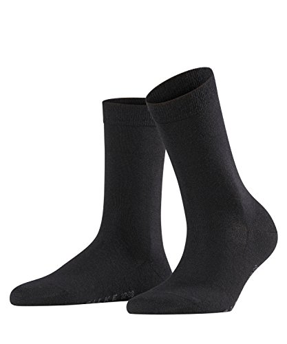 FALKE Damen Socken Softmerino 2er Pack, Größe:39/40;Farbe:Black (3009)