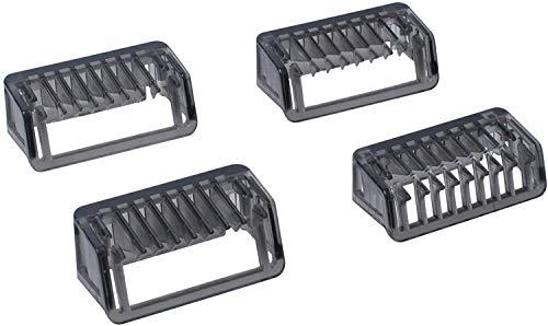 Peine Guía 1/2/3/5mm Compatible con Phi-lip OneBlade QP2510 QP2520 QP2521 QP2522 QP2523 QP2530 QP2531 QP2620 QP2630 QP6505 QP6510 QP6520 QP6620 por Poweka