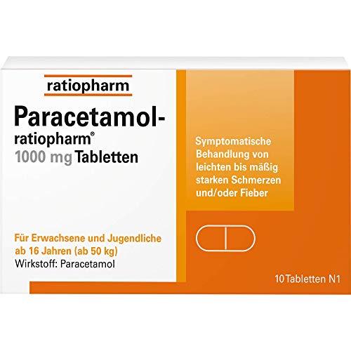 Paracetamol Ratiopharm 1.000 mg Tabletten