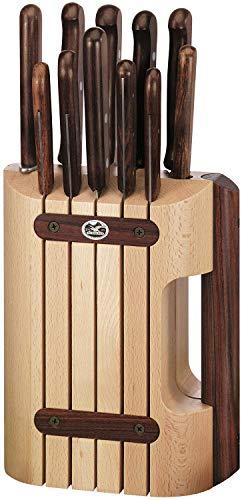 Victorinox Rosewood Messerblock-Set, 11-teiliges, Buchenholz, Sparschäler, Brotmesser, spülmaschinengeeignet
