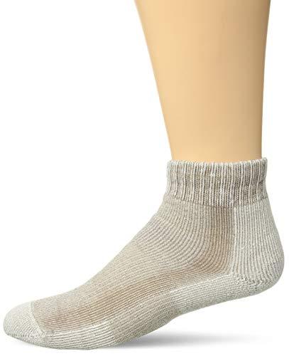 Thorlo Women's Light Hiking Moderate Padded Ankle Socks, Khaki, Medium/10 (Ladies Shoe Size 7-9)