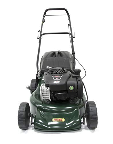 Webb Supreme WER18HP Hand Push 4 Wheel Petrol Rotary Lawnmower with 7 Cutting Heights, 46cm Cutting...