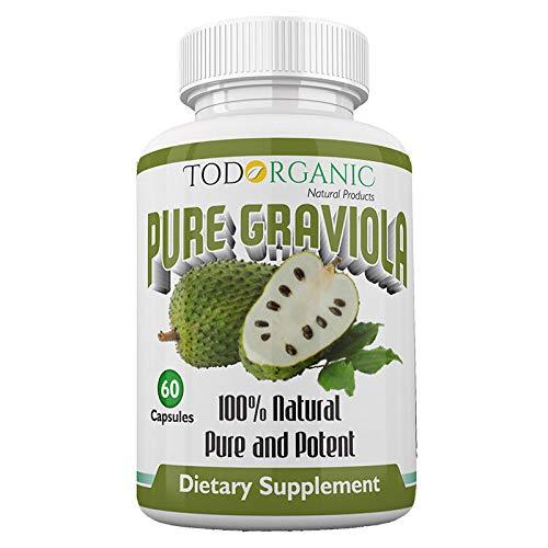 Todorganic - 100% Pure Organic Soursop Graviola Leaves, 60 Capsules |...