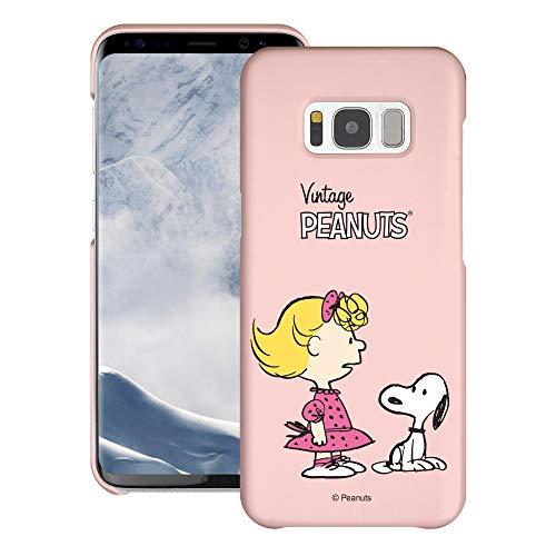 Galaxy S7 Edge ケース と互換性があります Peanuts Snoopy ピーナッツ スヌーピー ハード ケース/艶消しの硬い スリム スマホ カバー 【 ギャラクシー S7 エッジ ケース 】 (鮮やか スヌーピー サリー) [並行輸入品]