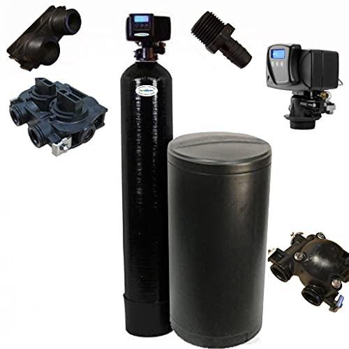 DuraWater IRONPRO2, Black Pro 2 Combination water softener iron filter Fleck 5600SXT digital metered valve for whole house (80,000 Grains