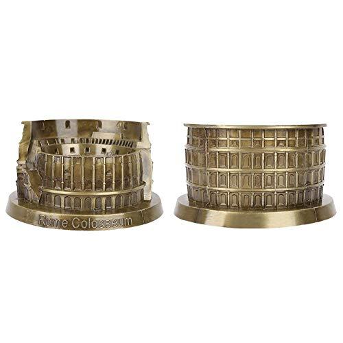 Hierro Forjado Bronce Coliseo Romano Modelo Arquitectura Antigua Artesanía Hecha A Mano Decoración de Escritorio en Casa Coleccionables Artificiales