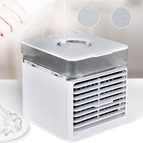 Enfriador de Aire portátil Personal, 3 velocidades Escritorio Tranquilo Aire Acondicionado Ventilador Mistado de Aire Acondicionado Personal, Dormitorio de la Oficina en el hogar