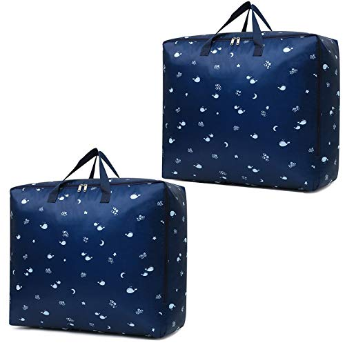 Large Storage Bags for Comforters Blankets Clothes Quilts and Towels Better and Sturdy Organizer Bag Under Bed Storage Great for Closets Bedrooms