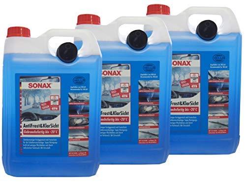 Preisjubel 3 x SONAX AntiFrost&KlarSicht Gebrauchsfertig 5 l, Frostschutz, Enteiser