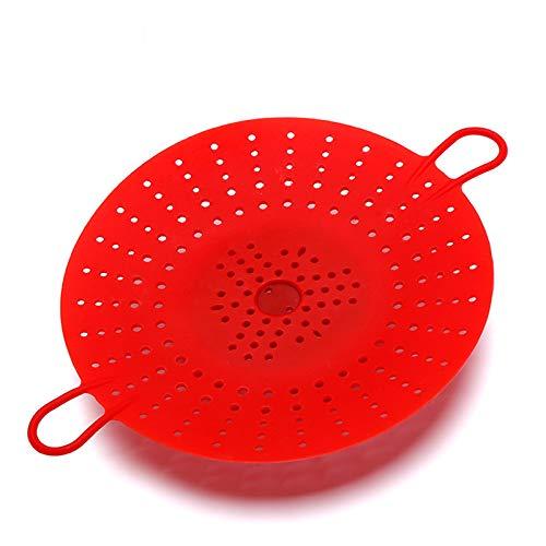 JOUDOO 2 Stück Silikon-Dampfgarer, langlebiger Gemüse-Dampfkorb, Einsatz für Schnellkochtöpfe, mikrowellengeeignet, Multicooker