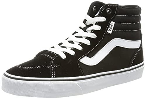 Vans Filmore Hi Suede/Canvas, Zapatillas Mujer, Lona de Ante Negro Blanco, 38 EU