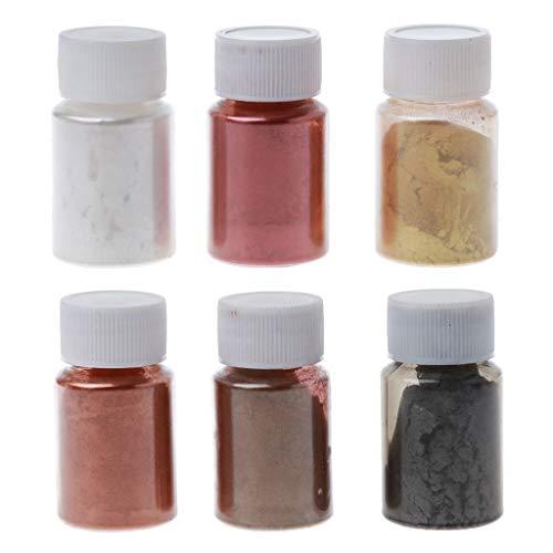 Myya 6 Farbe Metalltöne Mica Perle Pulver Pigment Schmuckset Kosmetikgrad Metallic-Farbstofffarbe Epoxidharz Kunstherstellung